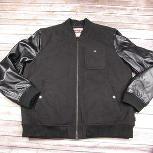 Levis Bomber Varsity Jacket Faux Leather Sleeves